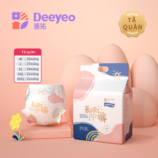 Tã quần Deyo Tã bỉm quần Dùng một lần M L XL XXL XXXL thumbnail