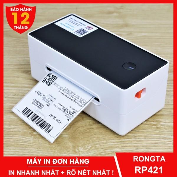 Máy in đơn hàng TMĐT RONGTA RP421 in tem nhãn giấy tự dán và phiếu vận chuyển giao hàng bằng công nghệ in nhiệt không dùng mực - Dâu Mart