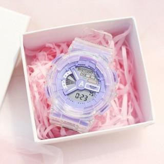 Đồng hồ điện tử thể thao thời trang unisex (nam - nữ) dây Silicon trong suốt cao cấp AOSUN PKHRAS003 (49 mm) thumbnail