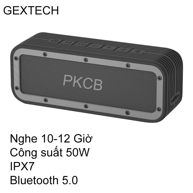 [VOUCHER 7%] Loa Bluetooth Không Dây 50W công suất lớn Super Bass chống nước IPX7 pin 6600MAH sạc nhanh Type C công nghệ AI Hàng Chính Hãng PKCB