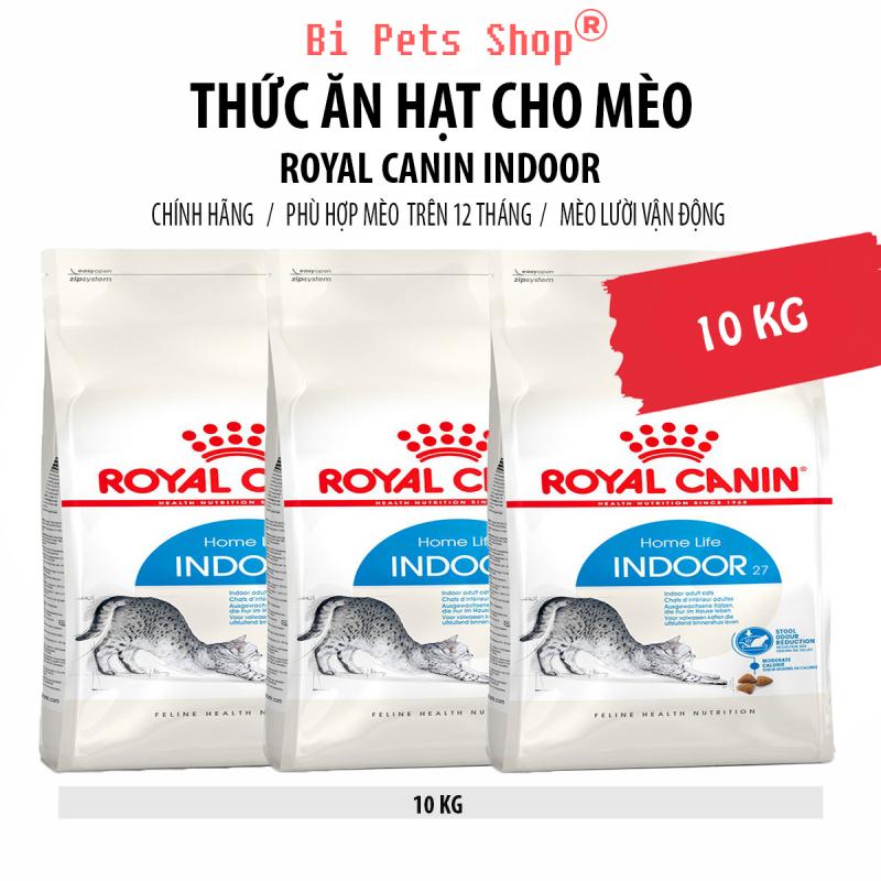 Thức ăn hạt cho mèo Royal Canin Indoor - 10 KG - Dành cho mèo trưởng thành từ 12 tháng tuổi trở lên