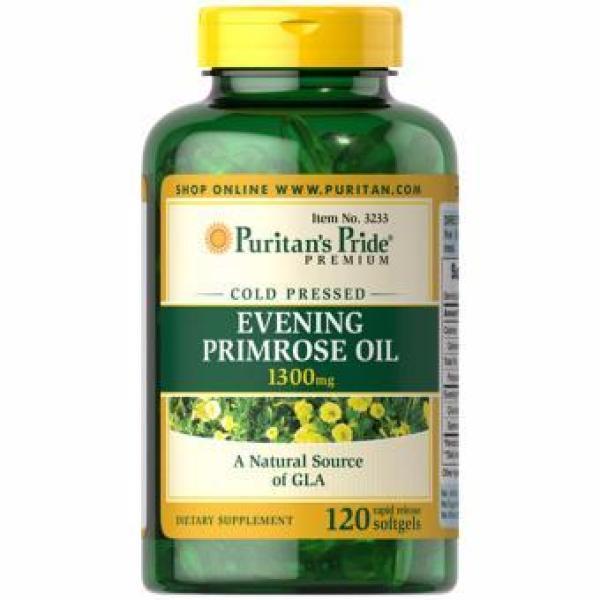 Chiết xuất tinh dầu hoa anh thảo Evening Primrose Oil 1300mg của Puritans Pride, hạn sử dụng: 8/2021