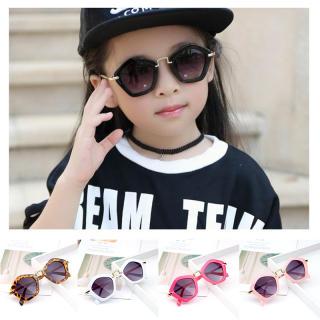 Thời Trang Ngũ Giác Kid Sunglasses Kính Râm Trẻ Em Chống Tia UV Hình Thoi, Kính Bảo Vệ Ngoài Trời UA400 Cho Bé Trai Bé Gái