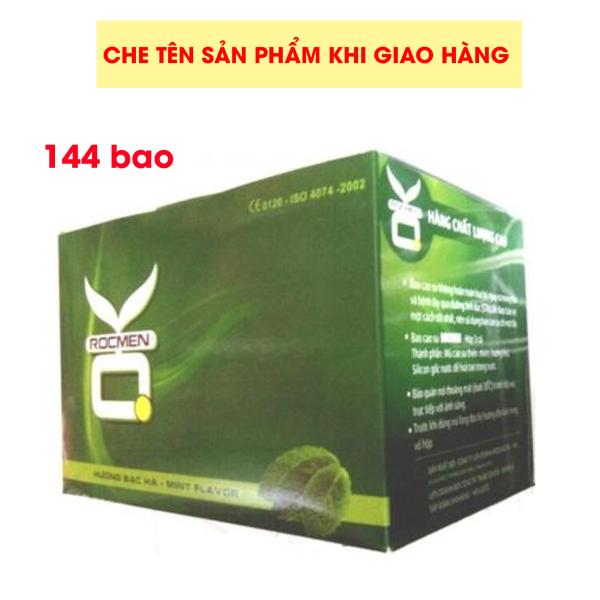 [HCM]Bộ 1 hộp lớn Bao cao su OKHQ bạc hà mát lạnh 144 cái - cho cảm giác thăng hoa