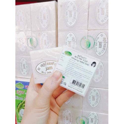 Mã Khuyến Mãi Combo 12 Cục Xà Phòng Kích Trắng Da Cám Gạo Jam Rice Milk Soap Thái Lan