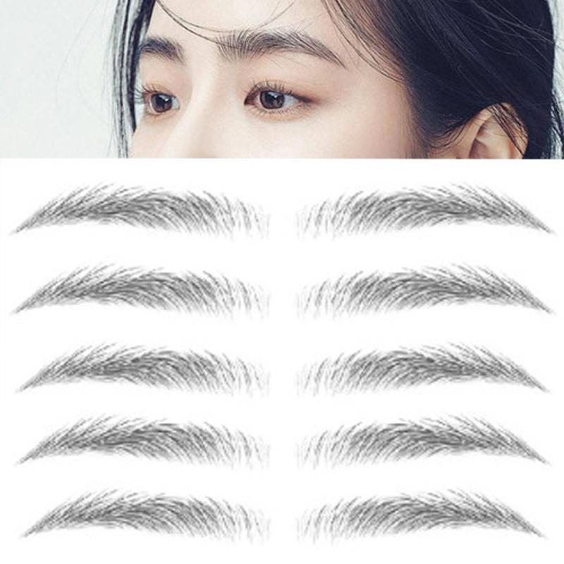 Set 9 cặp xăm lông mày 6D đẹp tự nhiên giữ được 7 ngày - Kinakino