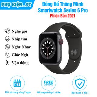 Đồng Hồ thông minh smartwatch series 6 Pro (2021), Nghe Gọi Qua Blutooth Theo Dõi Sức Khỏe thumbnail