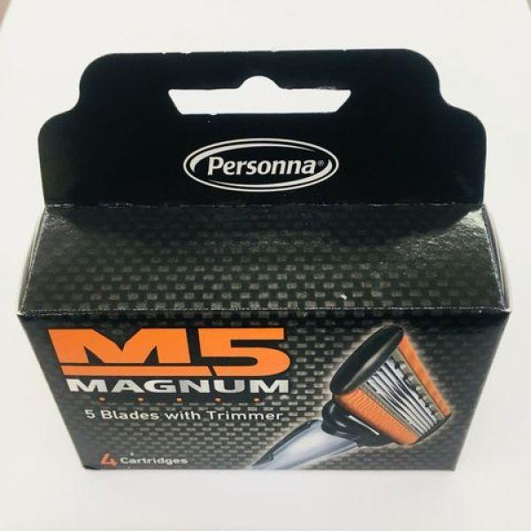 Hộp 4 lưỡi dao cạo râu M5 magnum (Hàng nhập khẩu Mỹ)