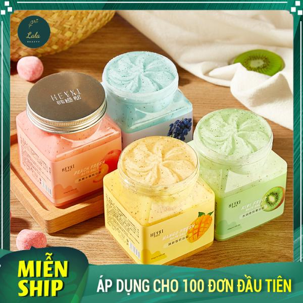 Muối Tắm Tẩy Da Chết Body Vị Hoa Quả HEYXI Cực Thơm - Heyxi Bath Salt Scrub An Toàn Cho Mọi Loại Da (350g) giá rẻ