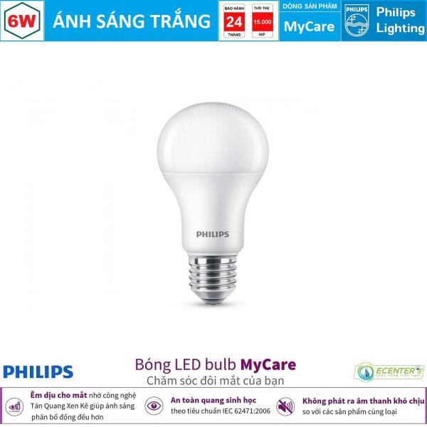 Bóng Philips LEDBulb MyCare 6W 6500K/3000K A60 E27 ( Ánh Sáng Trắng & Vàng )