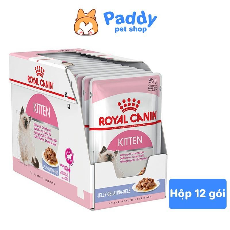 Pate Cho Mèo Con Royal Canin Kitten Jelly 85g - Hộp 12 Gói