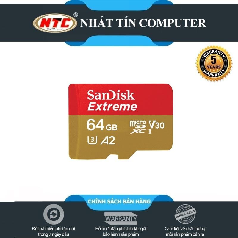 Thẻ Nhớ MicroSDXC SanDisk Extreme 64GB V30 U3 4K A2 R160MB/s W60MB/s (Vàng) - No Adapter - Nhất Tín Computer