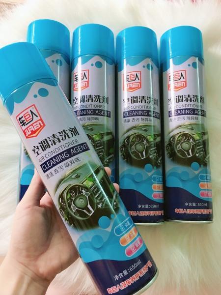 Combo 05 Bình xịt bọt khử mùi điều hòa ô tô Air Conditioner Cleaning Agent - Bình 650ml