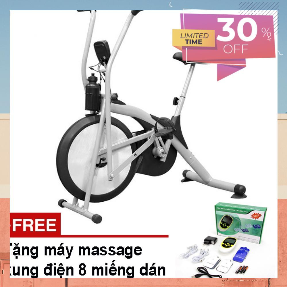 Bảng giá Xe Đạp Tập Thể Dục Air Bike + Tặng Máy Massage Xung Điện 8 Miếng Dán