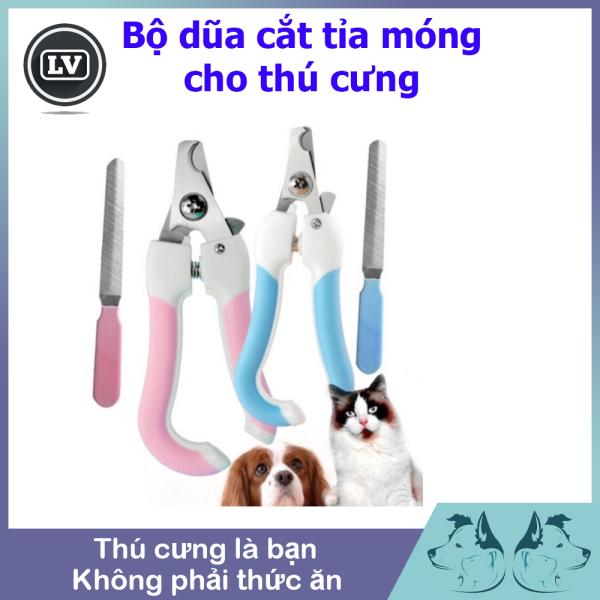 Bộ kìm cắt và dũa móng size nhỏ cho thú cưng chó mèo Phụ kiện Long Vũ
