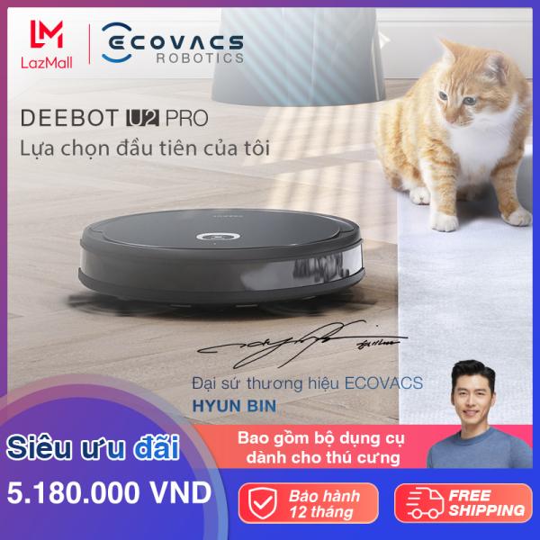 Robot hút bụi lau nhà thông minh Ecovacs Deebot U2 Pro - Hàng chính hãng - Bản quốc tế - lực hút max+ 1600pa