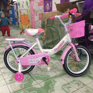 Xe đạp cỡ 16 inh - cho bé gái 5-8 tuổi thumbnail