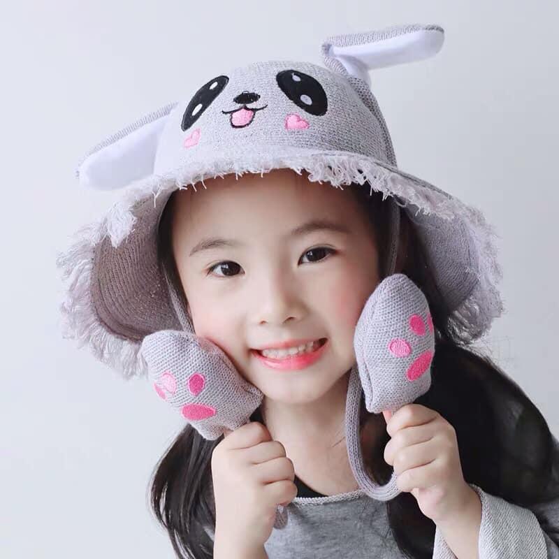 Giá bán Mũ cói tai thỏ giật cho bé