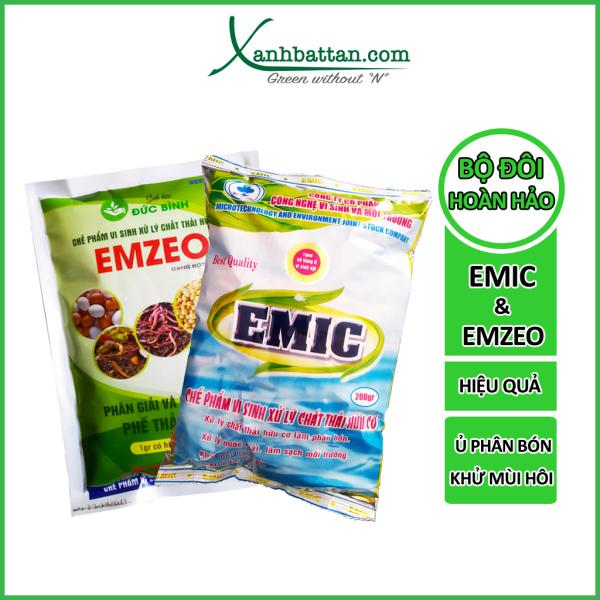 Bộ 10 Gói Emzeo Emic Ủ Phân Cá - Đậu Tương - Khử Mùi Hôi