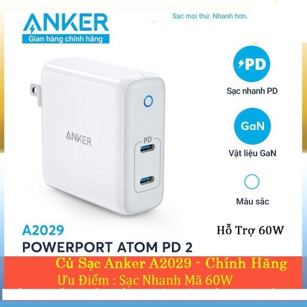 củ sạc nhanh ANKER PowerPort Atom PD 2 A2029 60W