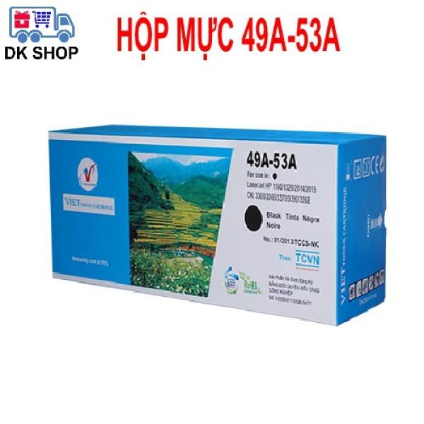 Hộp Mực In 49A-53A (Viet Toner) - Dùng Cho Máy In Hp (1160/1320/2014/2015), Canon (3300 /3360/ 3390/ 3392/331/ 3370).