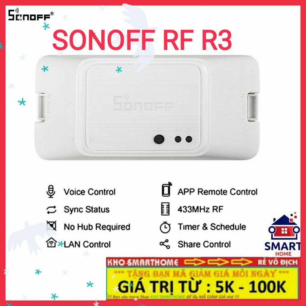 Công tắc thông minh SONOFF RF R3, điều khiển từ xa qua sóng RF 433Mhz, WIFI, 3G, 4G