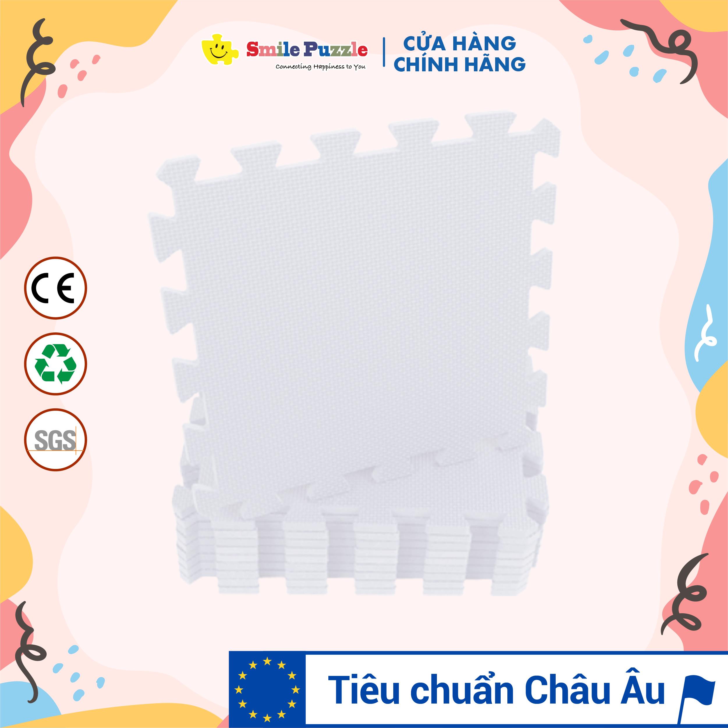 Thảm xốp cho bé - đơn màu Pastel (10 miếng, tổng kích thước 10 miếng 0.6mx1.5m) Smile Puzzle - KHÔNG MÙI CHUẨN CHÂU ÂU