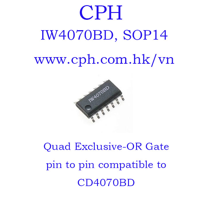 Giá 5pcs IW4070BD CD4070BD IW4070 CD4070 SOP14 IKSemicon Quad Exclusive-OR Gate