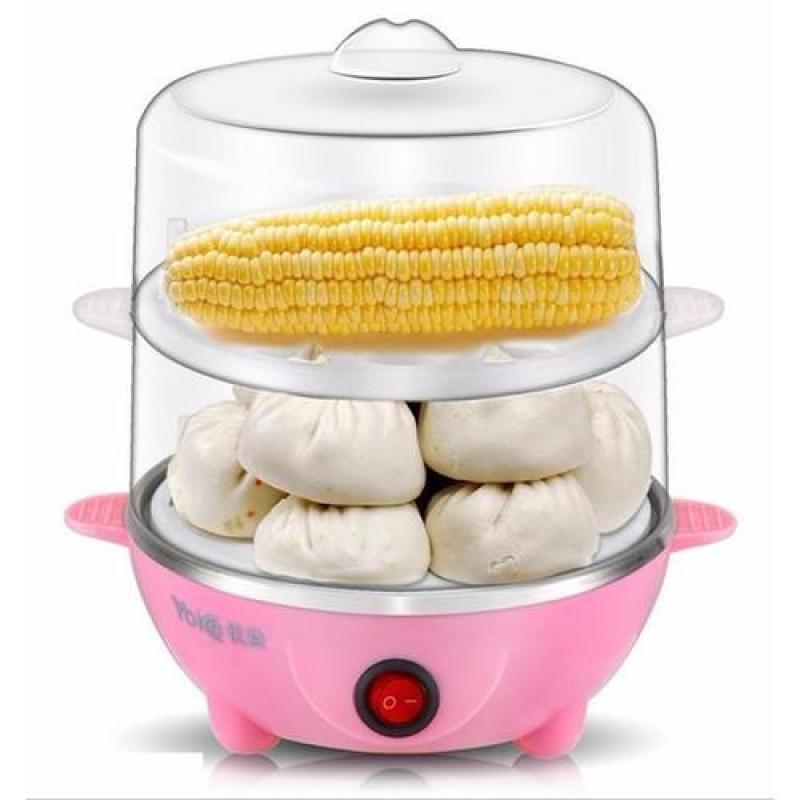 Nồi hấp, luộc trứng và bánh 2 tầng đa năng - Máy hấp thực phẩm 2 tầng: Luộc trứng, hâm nóng thức ăn, hâm nóng sữa cho bé,..