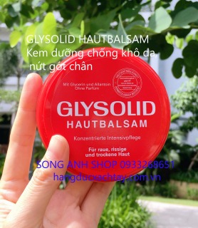GLYSOLID HAUTBALSAM -Kem thoa chống khô da, nứt nẻ, da sừng, tróc vảy, nứt gót chân thumbnail