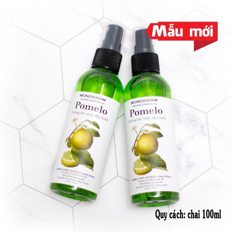 Bộ gồm 2 chai xịt tóc Pomelo Dưỡng Tóc Tinh Dầu Vỏ Bưởi 100ml x2 cao cấp