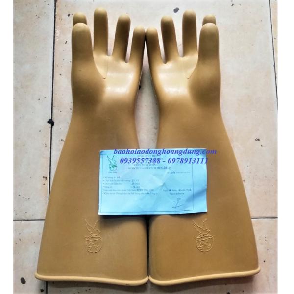Găng tay cao su cách điện hạ áp , găng tay chống điện giật