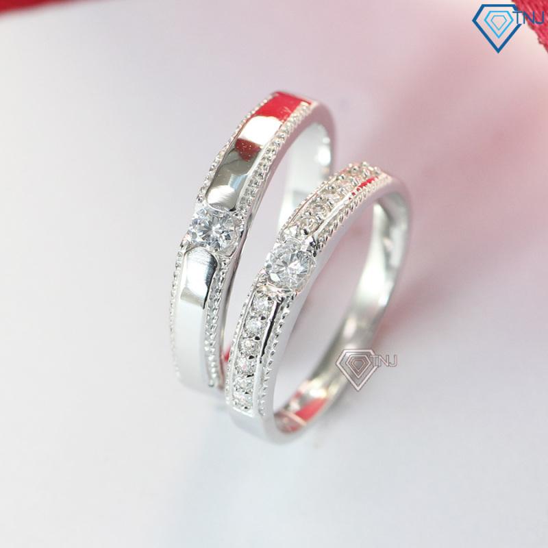 Nhẫn đôi tình yêu bạc thật khắc tên ND0370 - Trang Sức TNJ