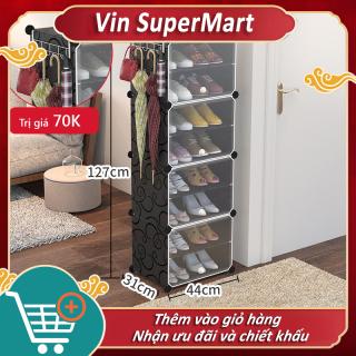 Tủ giầy nhựa lắp ghép,Tủ giày gia đình nhiều tầng tủ đa tầng ký túc xá phòng ngủ giá giày Vin SuperMart thumbnail