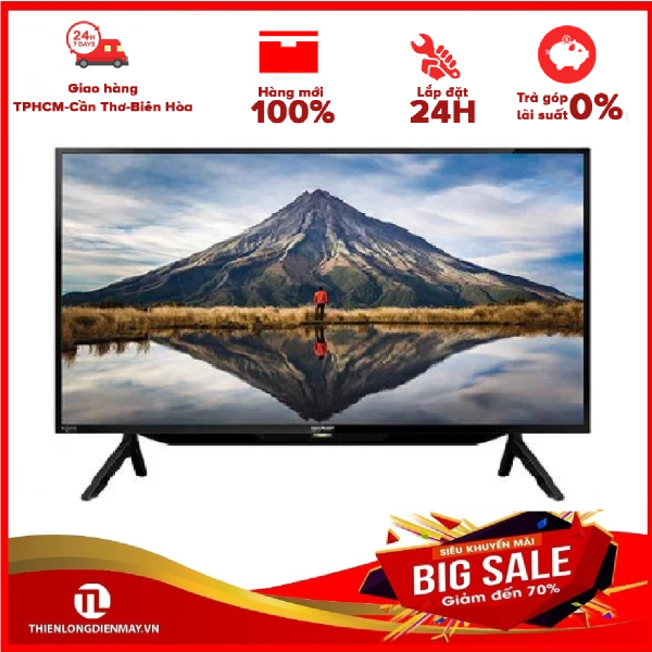 Bảng giá TRẢ GÓP 0% - Smart Tivi Sharp 42 inch 2T-C42BG1X- Bảo hành 12 tháng