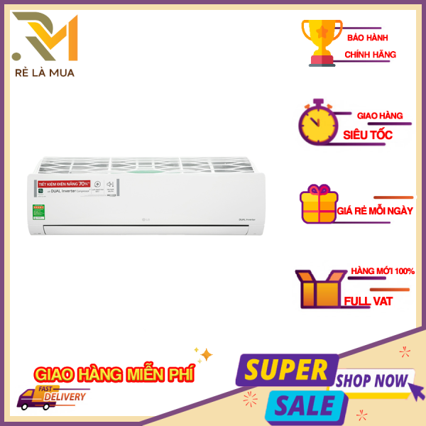 Bảng giá Máy lạnh LG Inverter 2.5 HP V24ENF1 - công nghệ Dual Inverter, dàn tản nhiệt mạ vàng, chế độ làm lạnh nhanh Jet Cool