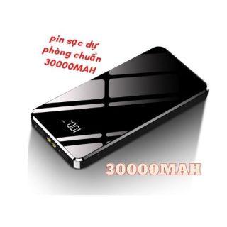 [ PIN 300000MAH KÈM TẶNG CÁP SẠC NHANH ] PIN DỰ PHÒNG MẶT GƯƠNG THIẾT KẾ SANG TRỌNG DUNG LƯỢNG LỚN 30000MAH - PIN DỰ PHÒNG CÓ 2 CỔNG RA ĐÈN LED SIÊU SÁNG PIN DỰ PHÒNG LCD MẶT GƯƠNG CÓ HIỂN THỊ 30000MAH-PIN SẠC NHANH THIẾT KẾ TINH TẾ, TIỆN LỢI, NHỎ GỌN thumbnail