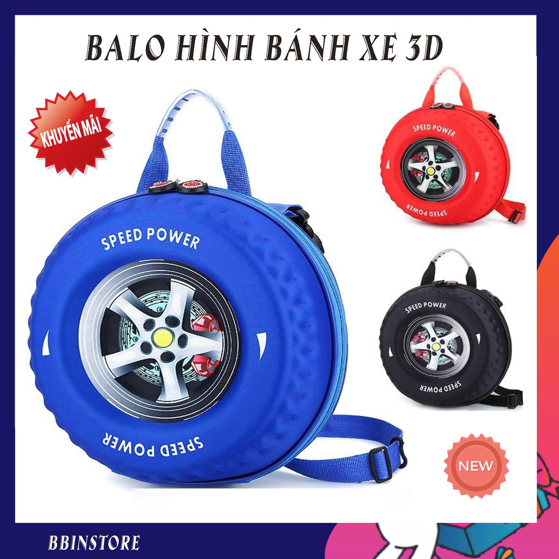 Giá bán Balo đi học cho trẻ, Balo ngộ nghĩnh cho bé, Balo cao cấp hình bánh xe 3D 2in1 cho bé yêu đến trường. Thiết kế thời trang, đáng yêu, để đồ thoải mái. Bảo hành uy tín.