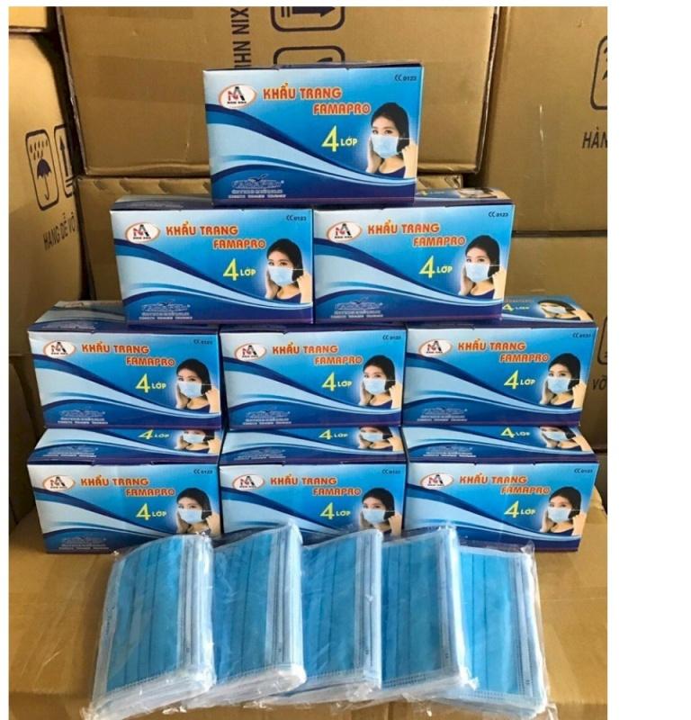 hộp 50 cái khẩu trang y tế hàng nam anh 4 lớp.kháng khuẩn ngăn ngừa vi rút