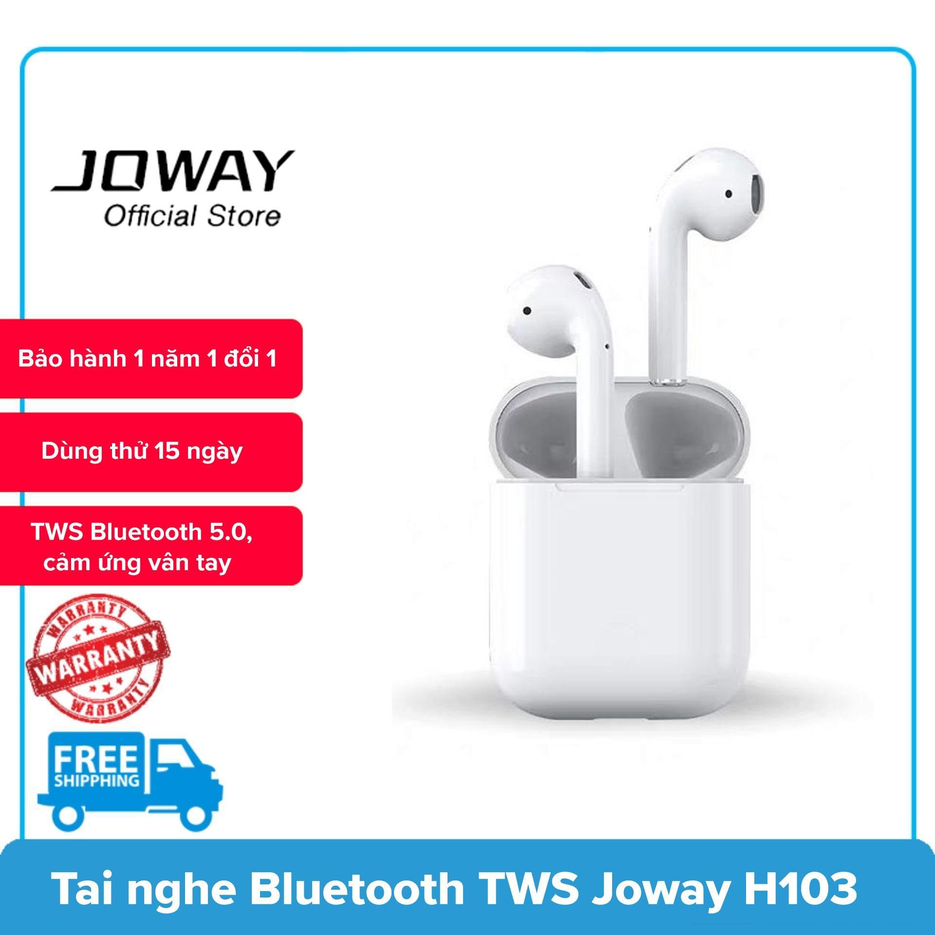 Tai Nghe Bluetooth Joway H103-AirPro, TWS Bluetooth 5.0, cảm ứng hồng ngoại (Trắng)