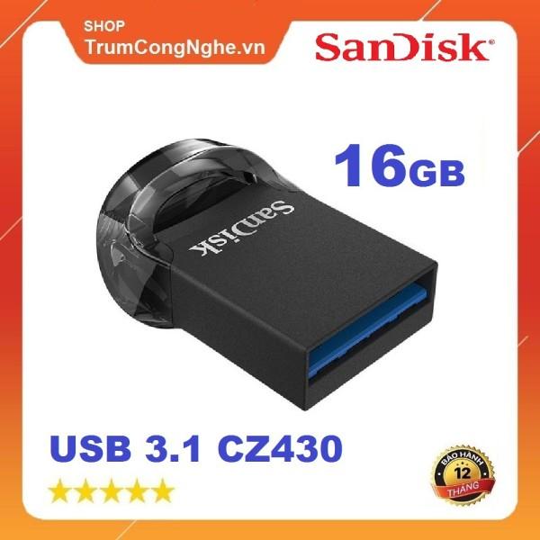Bảng giá USB 3.1 Sandisk cz430 16gb ultra fit flash drive tốc độ upto 130mb/s - tốc độ cao, cam kết hàng đúng mô tả, chất lượng đảm bảo an toàn đến sức khỏe người sử dụng, đa dạng mẫu mã Phong Vũ