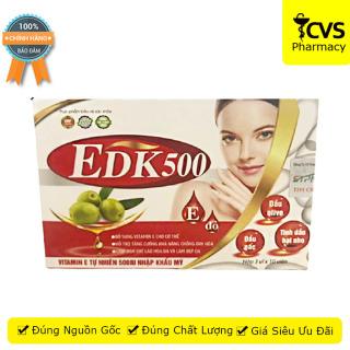 Viên Uống EDK500 (Hộp 30 viên) Bổ Sung Vitamin E Đỏ, hỗ trợ làm đẹp da - cvspharmacy thumbnail