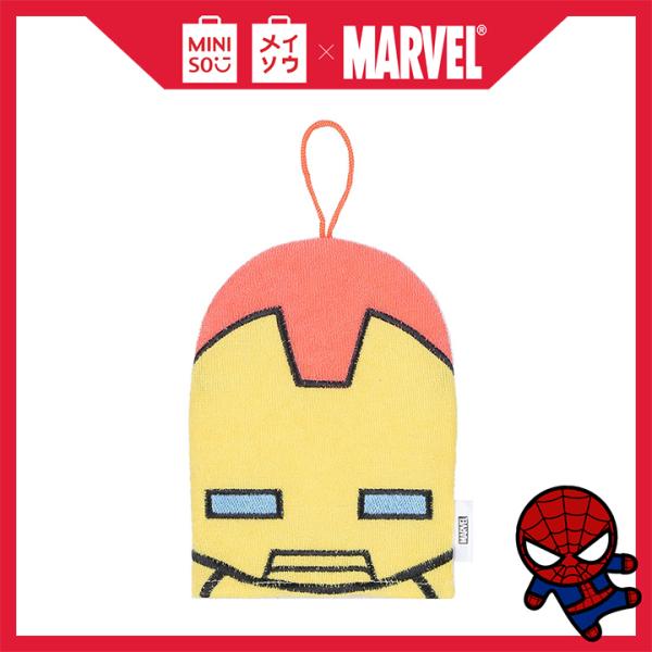 Găng tay tắm Miniso thêu họa tiết siêu anh hùng Marvel (Giao màu ngẫu nhiên) - Hàng chính hãng