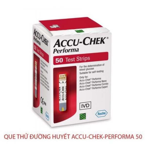Que thử đường huyết ACCUCHECK Performa 50 que bán chạy
