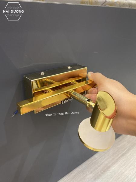 Đèn soi tranh - Đèn rọi gương Lonstar Led Đơn 3602-1 3w Mạ Vàng Ánh Sáng Vàng - Điều chỉnh được góc chiếu