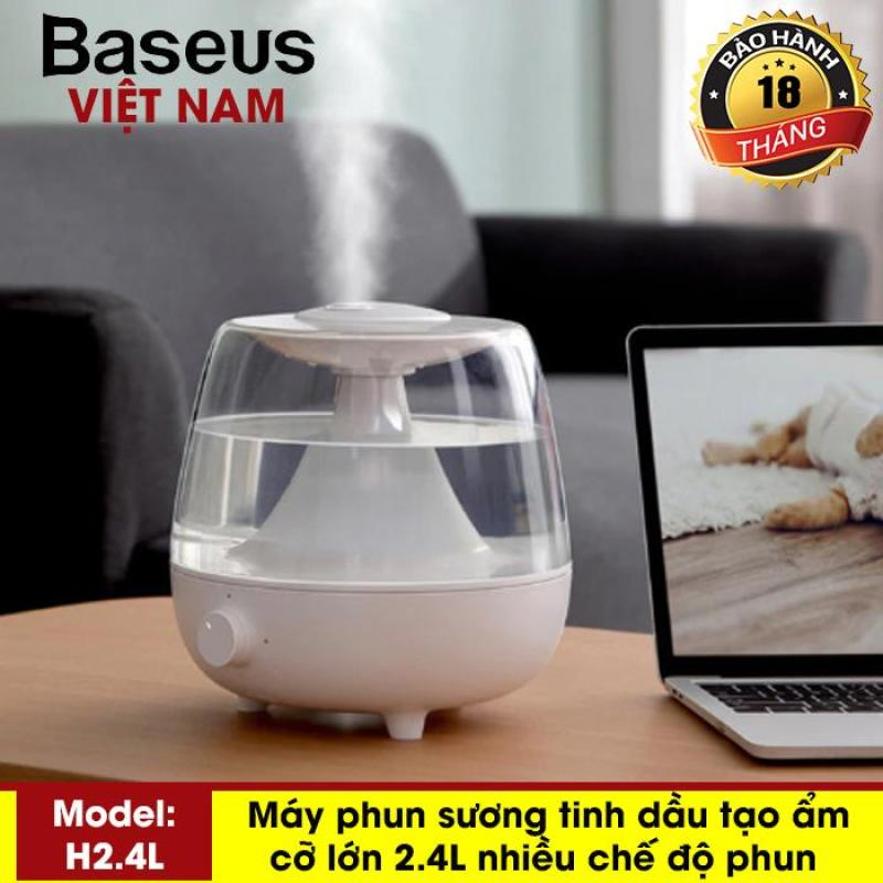 Máy phun sương tạo ẩm, khuếch tán tinh dầu dung tích lớn 2.4L làm thơm phòng, thanh lọc không khí cho văn phòng, nhà ở - Thương Hiệu Baseus - Phân phối bởi Baseus Vietnam
