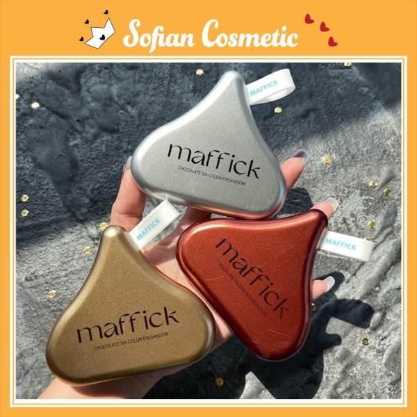 MAFFICK - Bảng phấn mắt nội địa trung Maffick Chocolate Pearly Matte 6 màu nhũ lì, lâu trôi, thích hợp cho người mới - Sofian Cosmetic giá rẻ