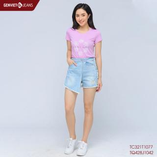 Quần Short Jeans Nữ TQ428J1042 GENVIET thumbnail