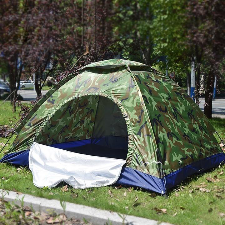 Lều Ngủ Cắm Trại 2 - 3 Người Vải Dù Cao Cấp 200x150x130 Cm Rằn Ri Cửa 2 Lớp Chống Thấm Nước Dã Ngoại Giá Rẻ Nhất Thị Trường