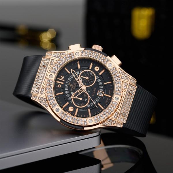 Đồng hồ nam Hblot dây thơm cao cấp , sang trọng , mạnh mẽ , đẳng cấp - Tặng kèm hộp da bán chạy